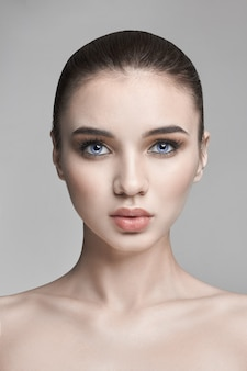 Pure skin beauty from nature, skincare beauty face