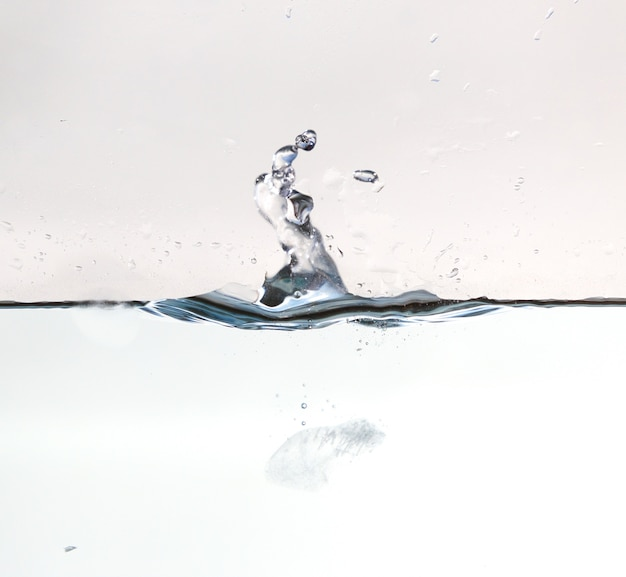 Pure water splash with bubble