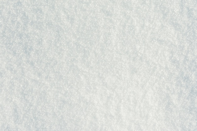 Pure white snow surface