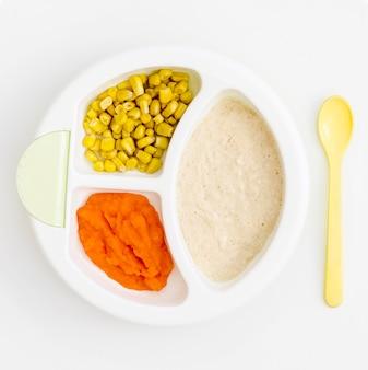 Пюре и кукуруза для ребенка