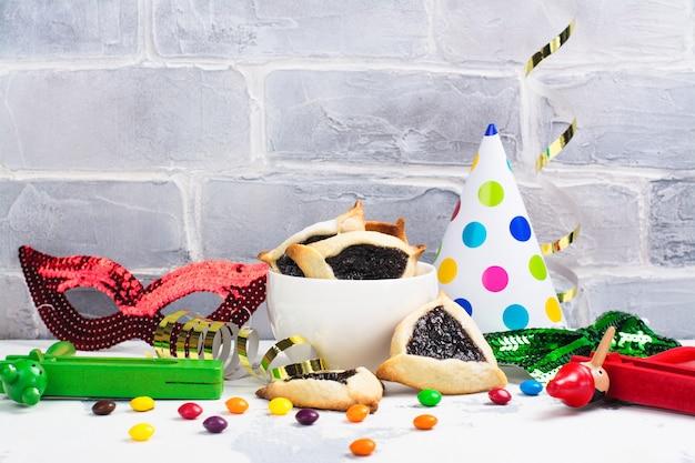 Purim carnival celebration set.