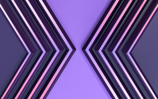 Purple abstract geometric pattern 3d render background for poster template business presentation