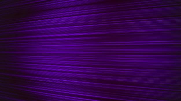 80年代スタイル、レトロな背景のノイズと紫色の抽象的なモーションライン。エレガントで豪華なダイナミックゲームの3dイラストスタイル