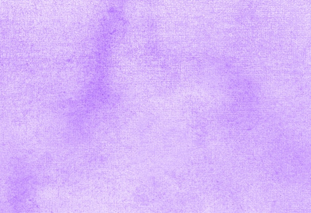 Purple abstract pastel watercolor hand painted background texture.