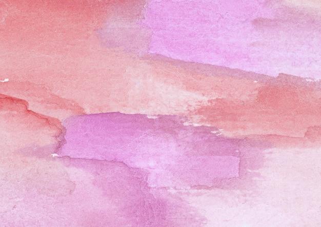 보라색과 빨간색 수채화 텍스처