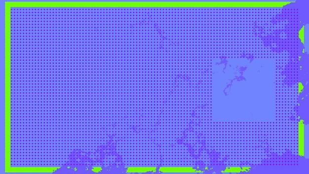 緑の線で囲まれたドットと紫色の背景3dレンダリング