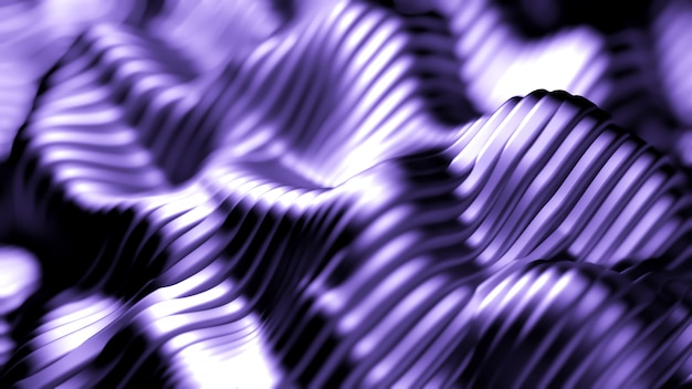 Purple background with lines. 3d rendering.