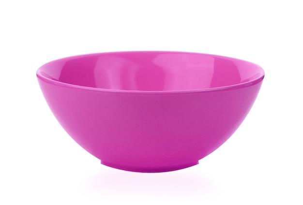 白い背景に分離された紫色のボウル