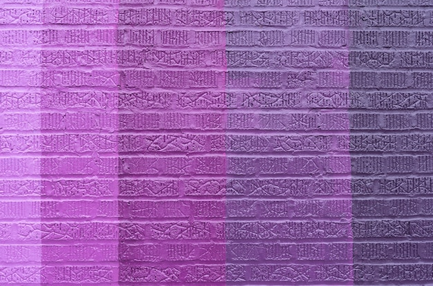 Purple brick wall background