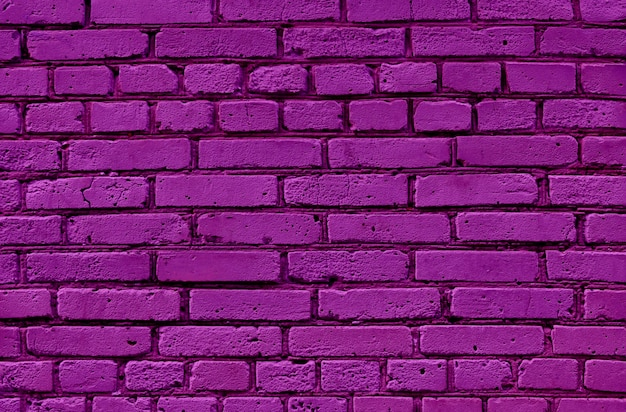 Purple brick wall texture surface