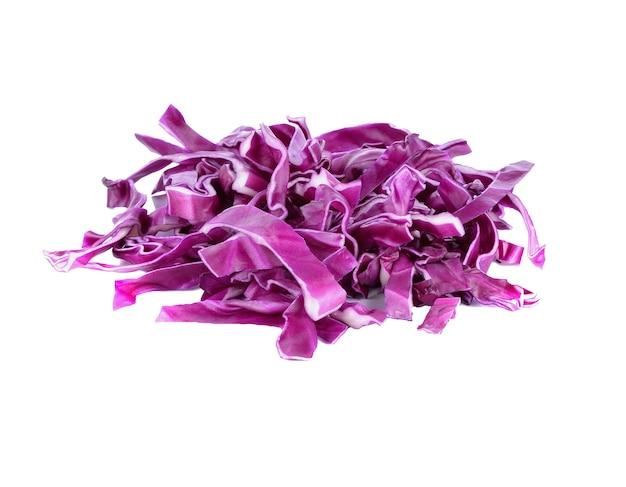 白い表面に紫キャベツ