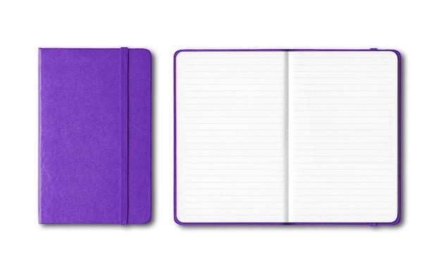 Пурпурные тетради с закрытыми и открытыми подкладками