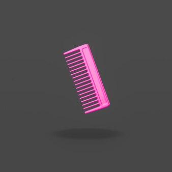 Purple comb on black background