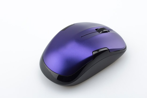 Purple computer mouse