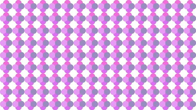 紫のドットサークルシームレスパターンテクスチャ背景、ソフトブラー壁紙