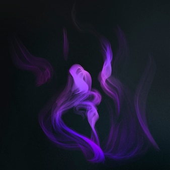 Purple flame in black background