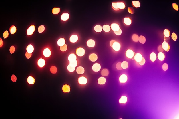 Purple flash near lights