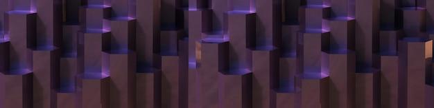 보라색 육각형 패턴 배경