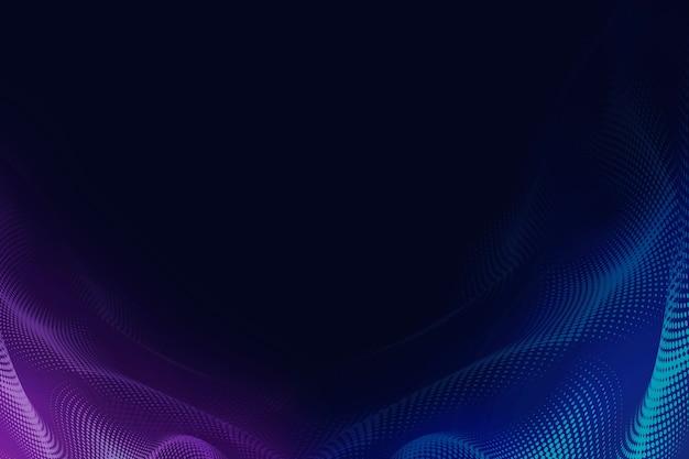 Purple and indigo halftone patterned background