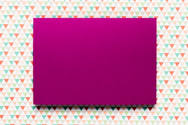 Purple invitation with colorful background