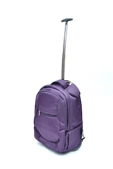 Purple laptop bag isolated on white