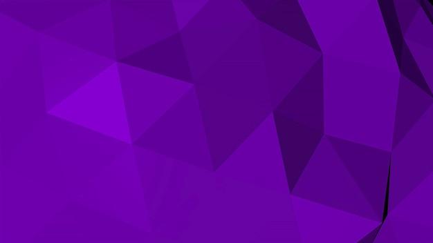 紫の低ポリ抽象的な背景、三角形の幾何学的形状。ビジネスのためのエレガントで豪華なダイナミックスタイル、3dイラスト