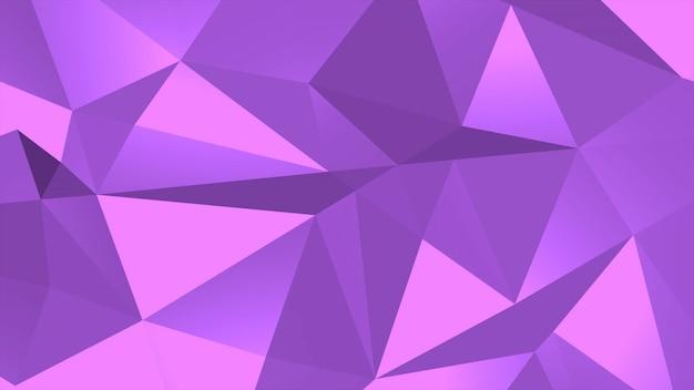 보라색 낮은 폴 리 추상적인 배경, 삼각형 기하학적 모양. 비즈니스, 3d 일러스트레이션을 위한 우아하고 고급스러운 동적 스타일
