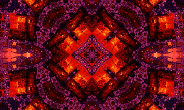 Purple and magenta floral kaleidoscope design. kaledoscope pattern for manufacturing of packaging, scrapbooking, gift wrapping, books, booklets, albums.