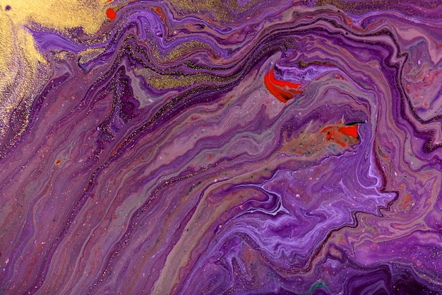 Purple marble abstract fluid art pattern.