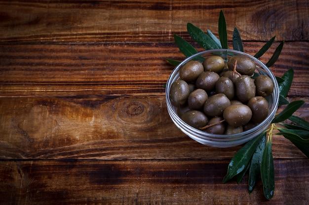 Purple marinated olives