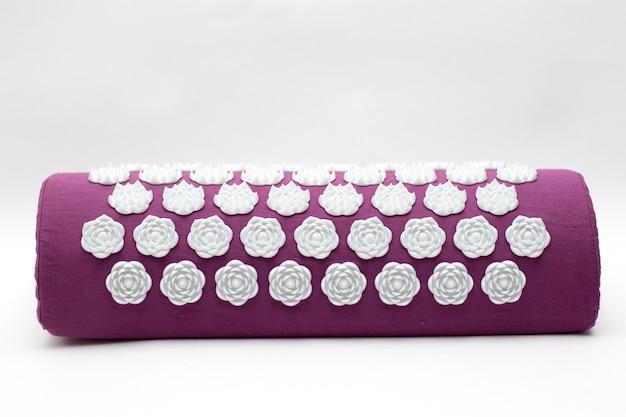 Purple massage acupuncture pillow