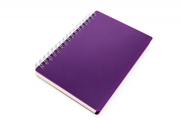 Purple notebook with rings