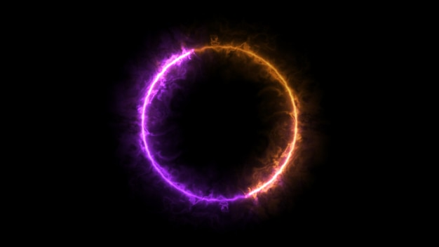 Purple and orange ring fire, sphere particle
