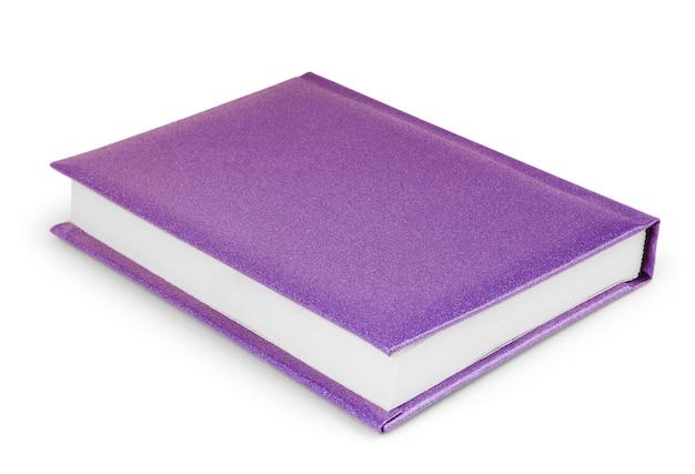 Фиолетовый органайзер спиральный блокнот бумажная книга, изолированные на белом фоне