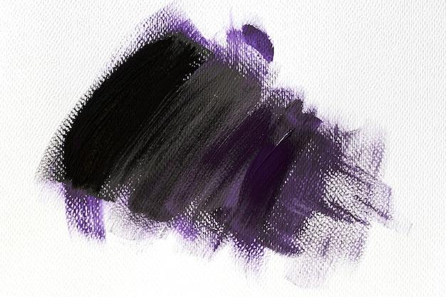Purple paint brush stroke effect on canvas