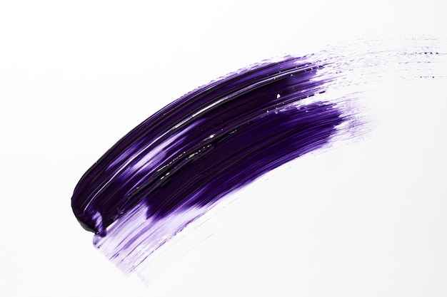 Purple paint  brush stroke