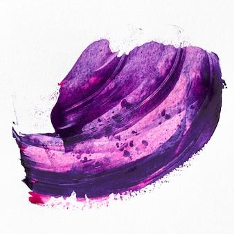 Фиолетовая краска пятно абстрактное искусство