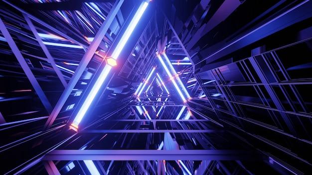 Purple prismatic tunnel
