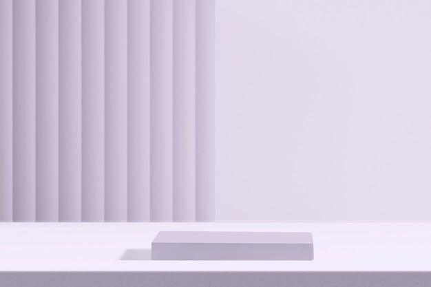 디자인 공간이 있는 보라색 제품 배경