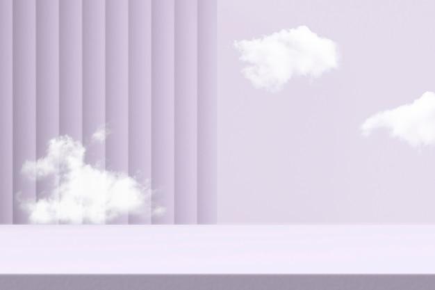 Фиолетовый фон продукта с пространством для дизайна