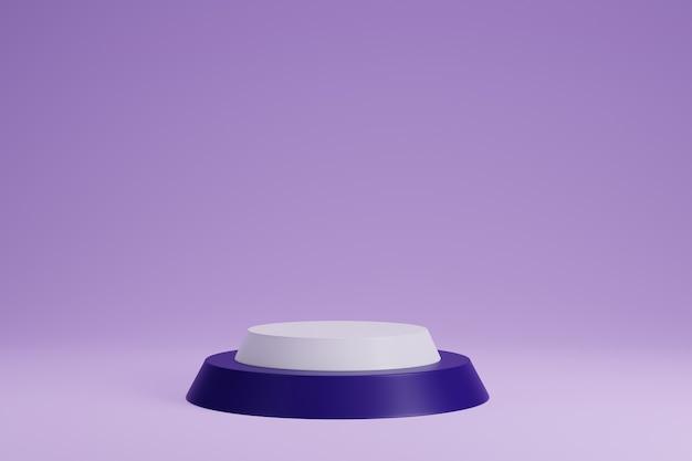 보라색 배경 3d 렌더링에 제품 표시를 위한 보라색 현실적인 연단
