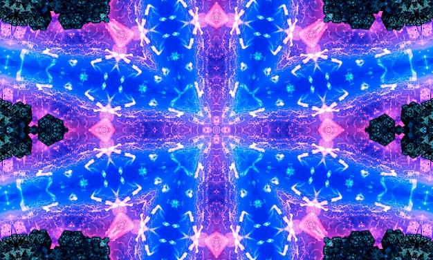 보라색 반복 꽃 화려한 만다라 패턴 배경 - 추상 대칭 장식 벽지 그래픽.