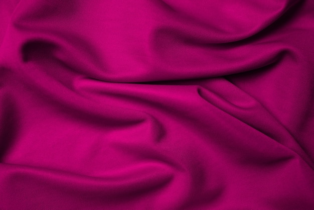 Purple silk folded fabric background