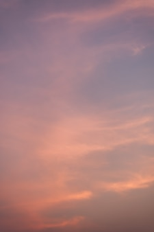 Purple sky and orange in the evening.