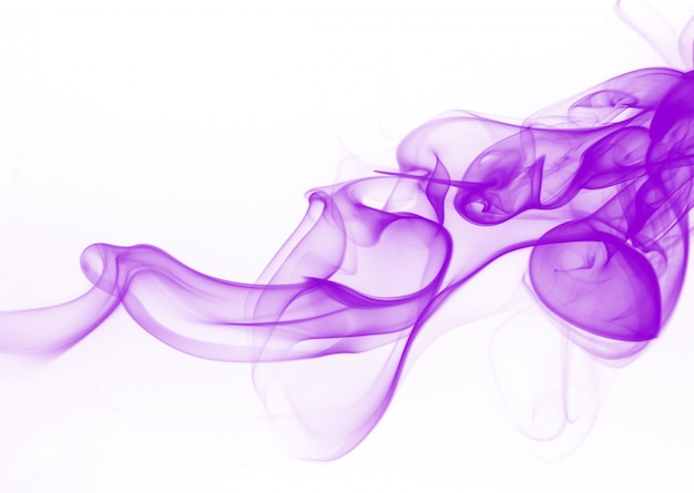 Purple smoke motion abstract on white background