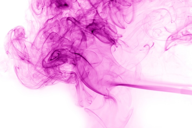 Purple smoke  on white background