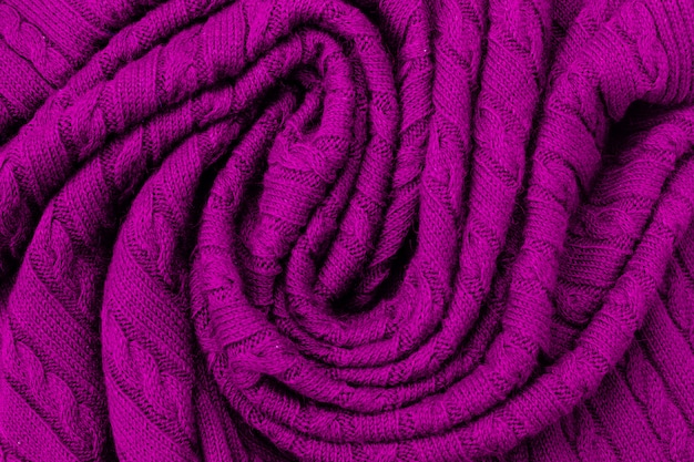 Purple soft pleats of wool plaid