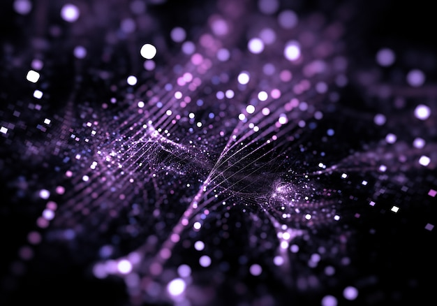 Purple sparkle and bokeh background