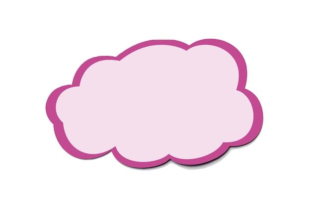 孤立した雲として紫色の吹き出しサイン