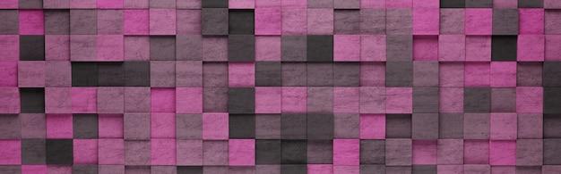 보라색 사각형 3d 패턴 배경